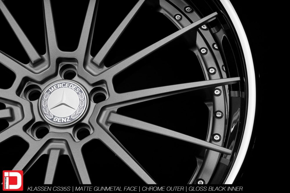 klassen klassenid wheels rims custom concave forged three piece 21inch 21in matte gunmetal chrome lip hardware mercedes benz s63 amg