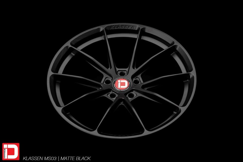 klassen klassenid wheels rims custom forged concave matte black ms03 split five spoke lightweight sport racing