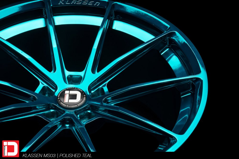 klassen klassenid wheels rims custom concave forged ms03 polished turquoise acura nsx supercar performance lightweight track