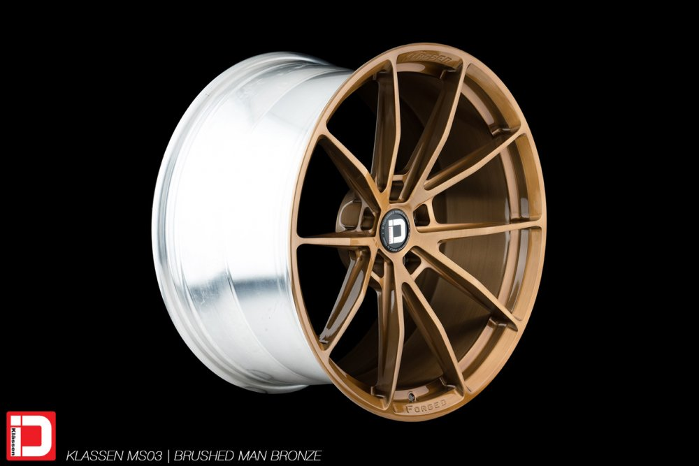 klassen klassenid wheels rim customs forged monoblock concave lightweight track sport brushed bronze five spoke split