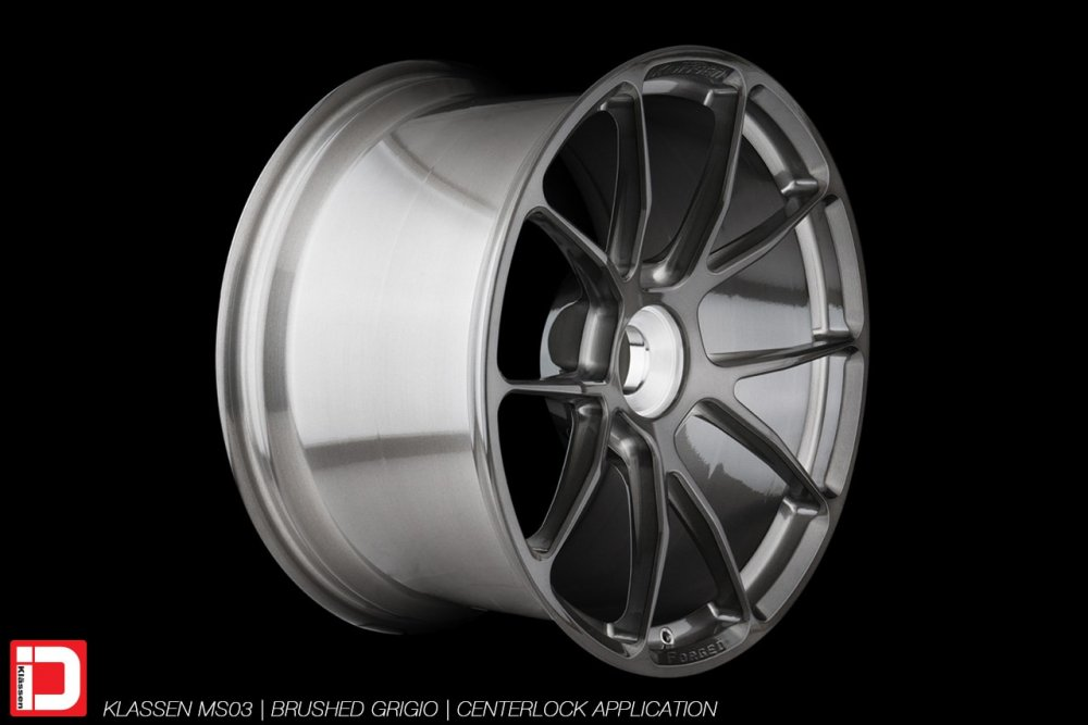 klassenid klassen wheels forged custom concave monoblock centerlock porsche rims light track performance brushed gunmetal