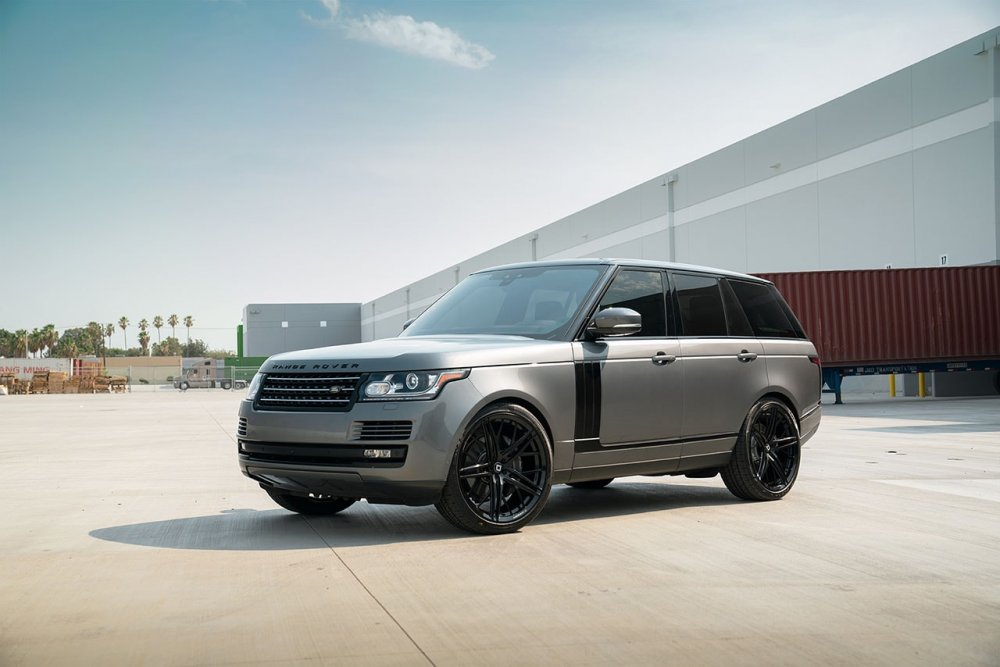 Range Rover HSE KlasseniD Wheels M53R Matte Black Face Gloss Black Windows 2