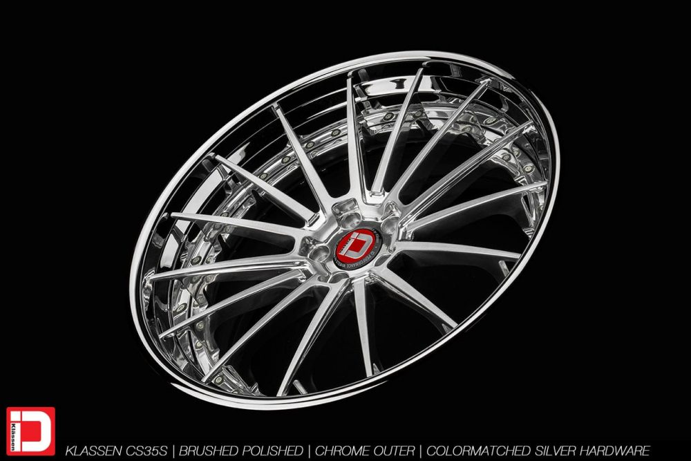 klassen klassenid wheels rims custom concave forged three piece 21inch 21in brushed polished chrome lip hardware mercedes benz s63 amg