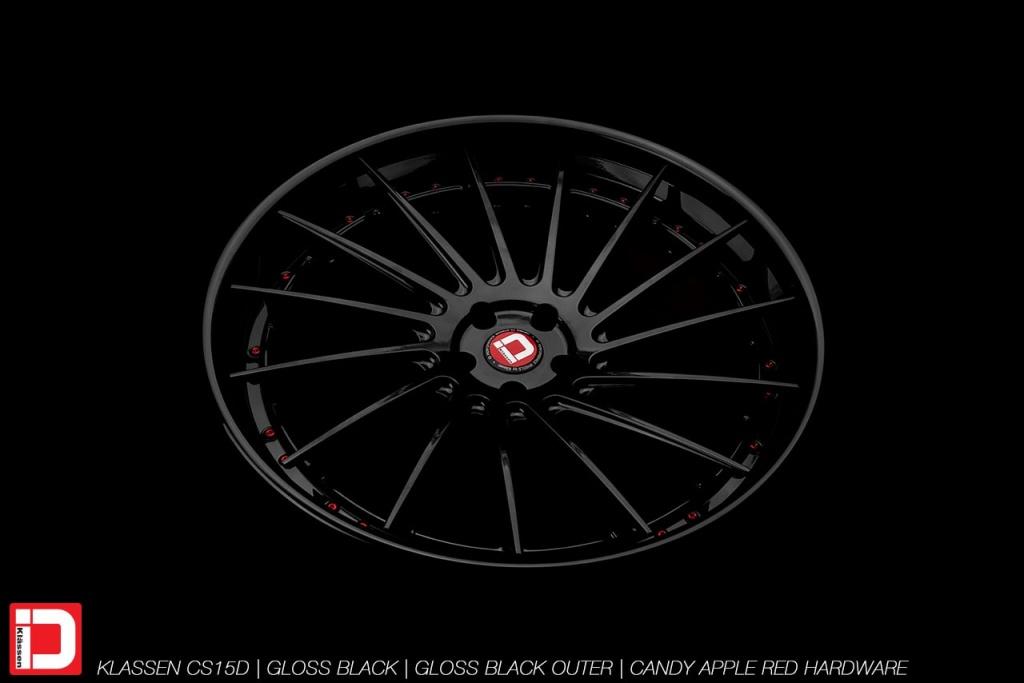 klassenid klassen wheels rims custom forged concave directional gloss black candy red hardware
