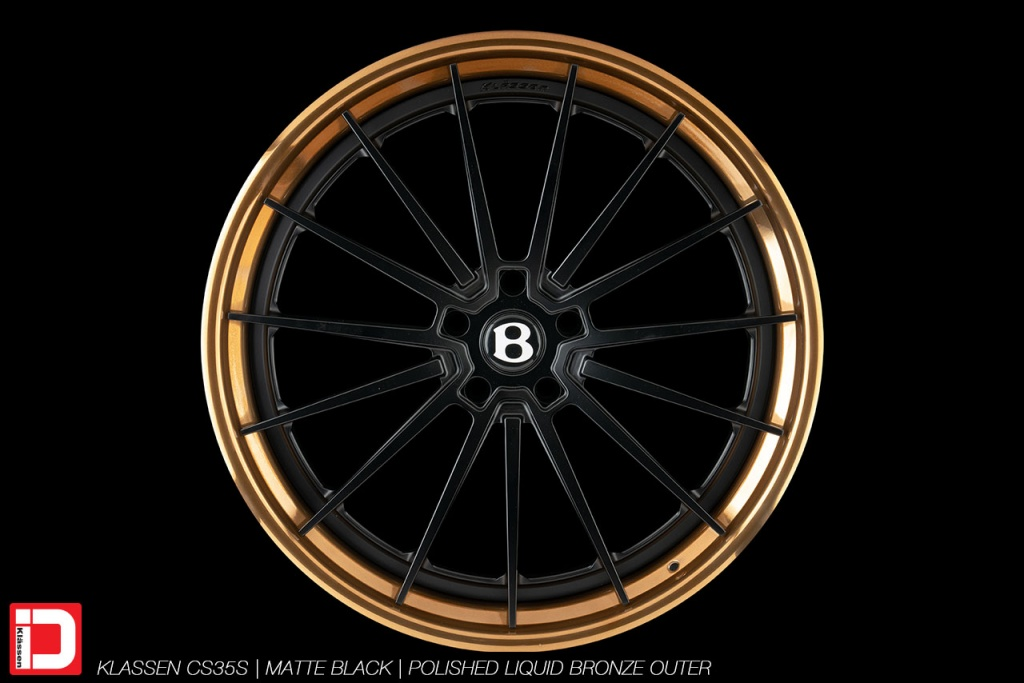 klassen klassenid wheels rims custom concave forged three piece 21inch 21in matte black polished bronze lip bentley bentayga