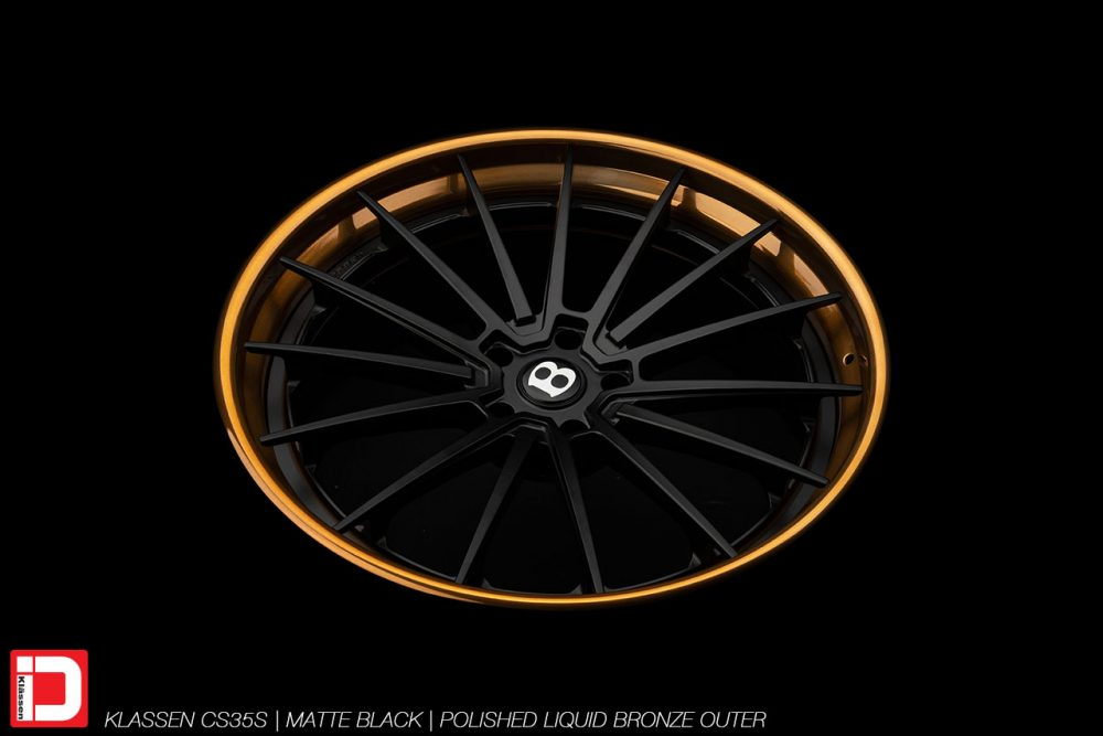 klassen klassenid wheels rims custom concave forged three piece 21inch 21in matte black polished bronze lip bentley bentayga