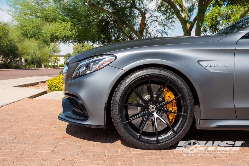 klassen klassenid wheels ms03 rims forged custom monoblock matte black gray mercedes benz c63 amg coupe