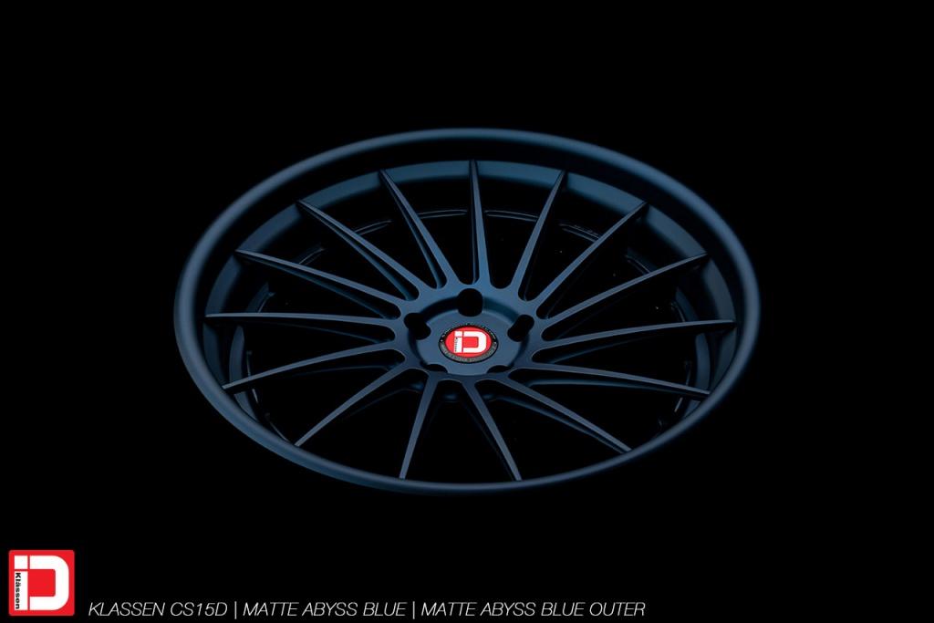 klassen klassenid wheels cs15d custom concave forged rim matte abyss blue midnight directional multispoke