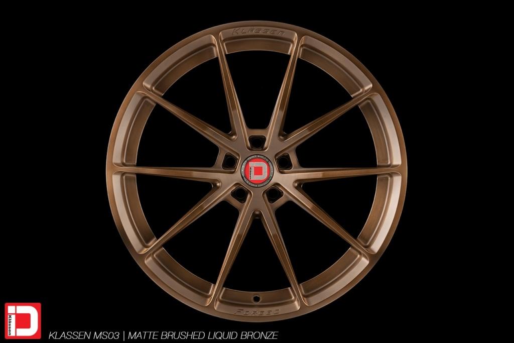 klassen klassenid wheels rims custom concave forged monoblock ms03 matte brushed abyss blue lightweight performance track