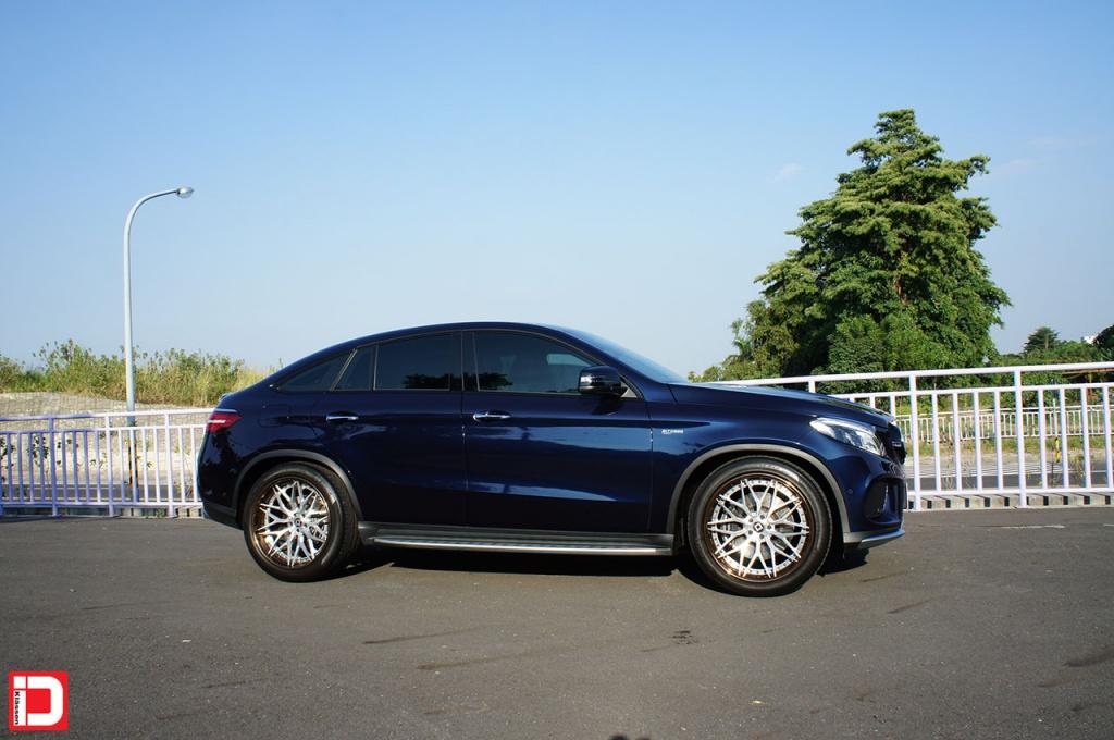 klassen klassenid wheels cs10x custom forged concave mercedes benz gle43 amg blue brushed face polished liquid bronze lip