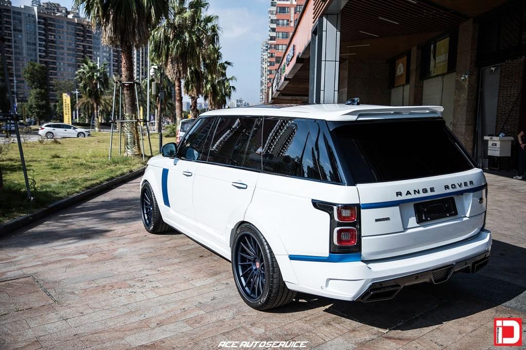 klassen klassenid wheels rims cs15d range rover startech widebody white matte abyss midnight blue concave custom suv