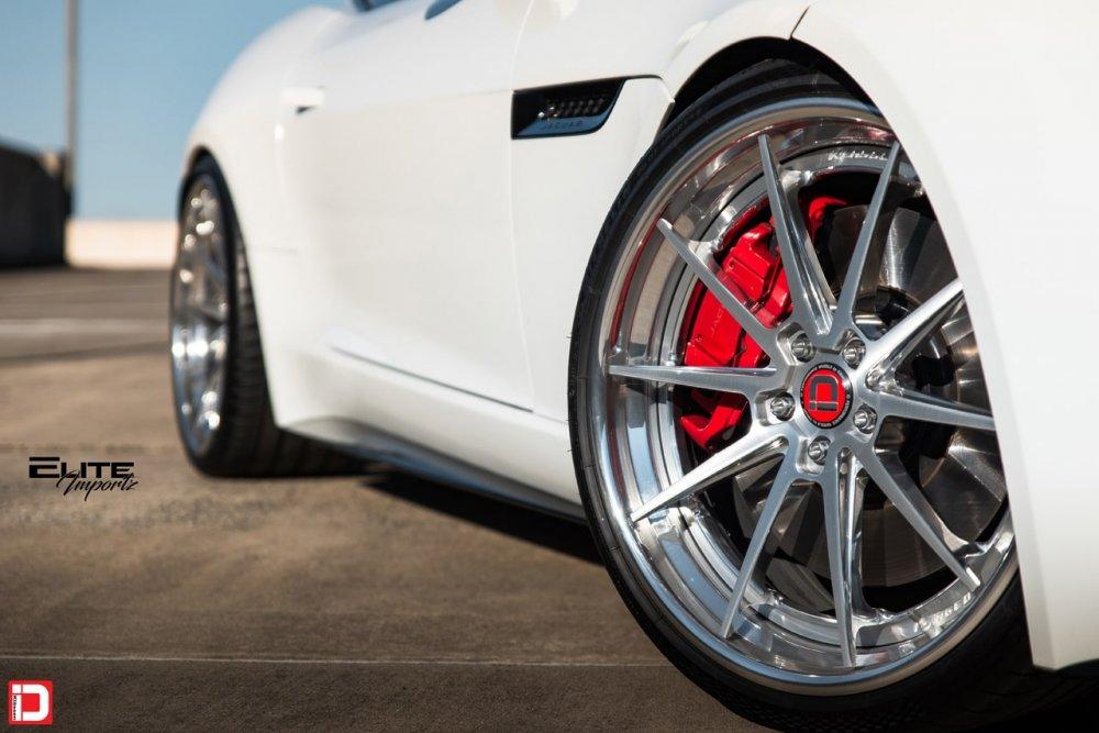 klassen klassenid klassenidwheels jaguar f-type ftype white cs10r custom concave forged three piece brushed polished rims stanced lowered sports car