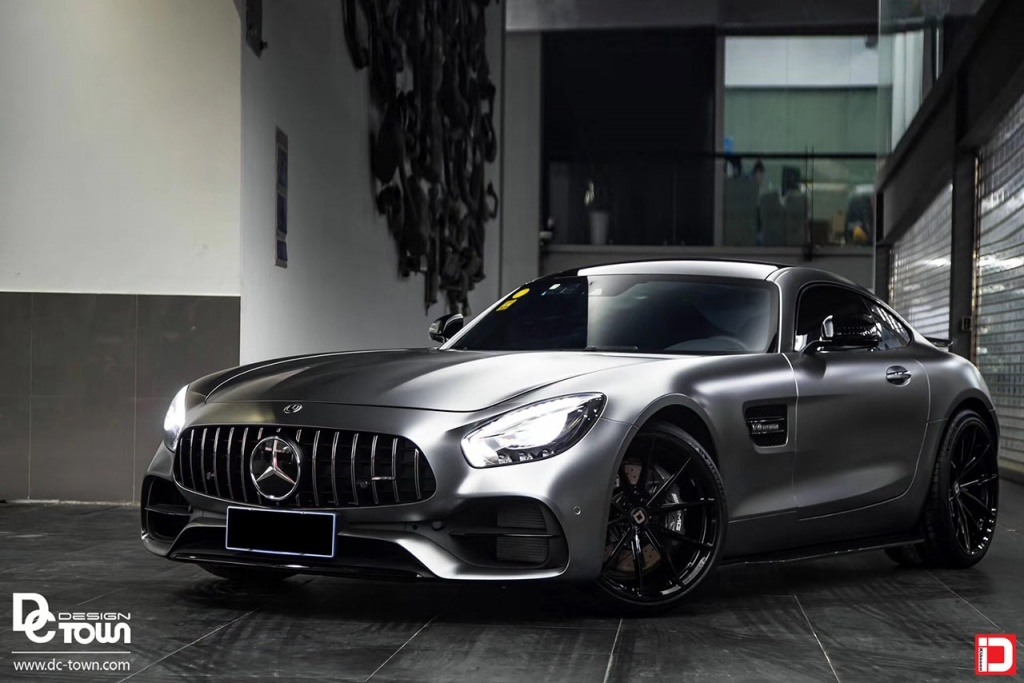 matte gray mercedes-benz amg gtr klassen klassenid wheels ms03 black rims custom forged concave monoblock 20in 20inch coupe