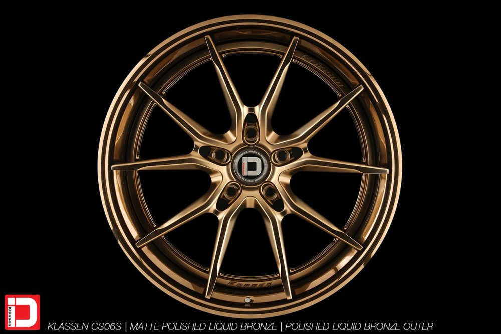 klassen klassenid wheels rims custom forged concave matte polished liquid bronze split spoke split 21in 21inch