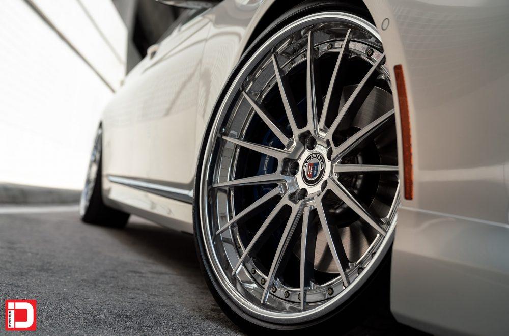 klassen klassenid wheels id cs35s 15 spokes three piece forged custom concave brushed polished gloss chrome hardware bmw alpina f01 sedan xdrive B7 22in 22inch staggered deep dish chrome lip
