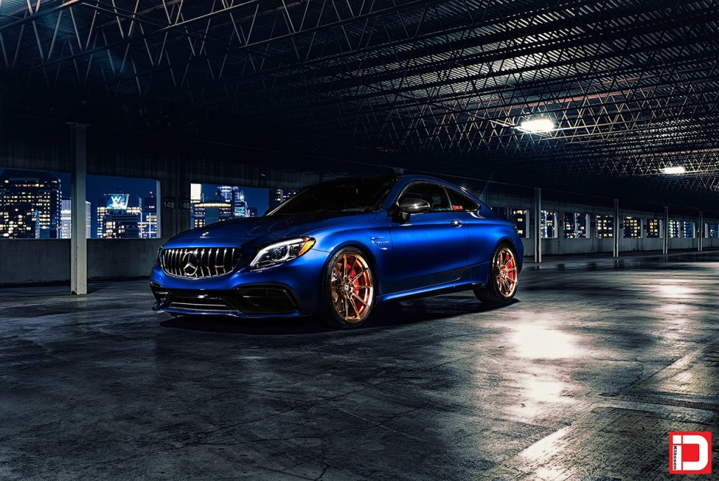 klassen klassenid wheels m07r forged monoblock custom concave track light mercedes benz mbusa mbamg c63s amg edition 1 matte polished bronze blue dallas texas 20in 20inch staggered rims