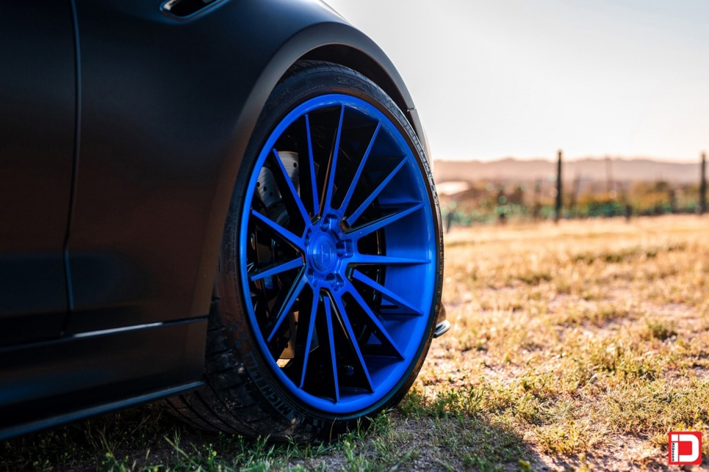 klassen klassenid klassenidwheels wheels rim stance bmw f90 m5 matte black kartunz 15 spoke multispoke bmwm performance twin turbo v8 blue brushed gloss black reverse lip