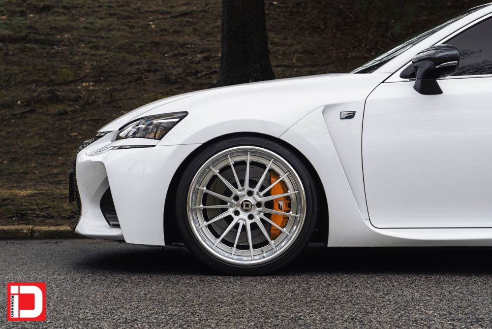 lexus gs gsf f klassen klassenid wheels cs35s mesh brushed polished chrome lip deep dish step lip custom concave forged three piece bespoke rims stanced elite importz laurel maryland 20in 21in staggered