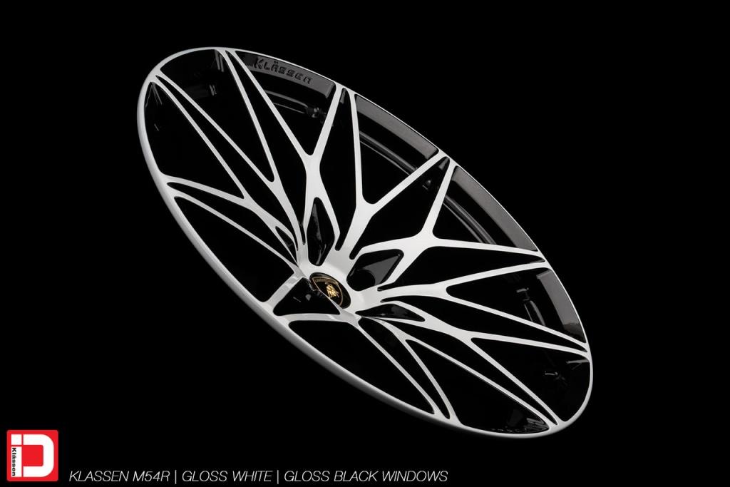 klassen klassenid wheels id m54r forged monoblock gloss white custom concave forged bespoke rims one piece