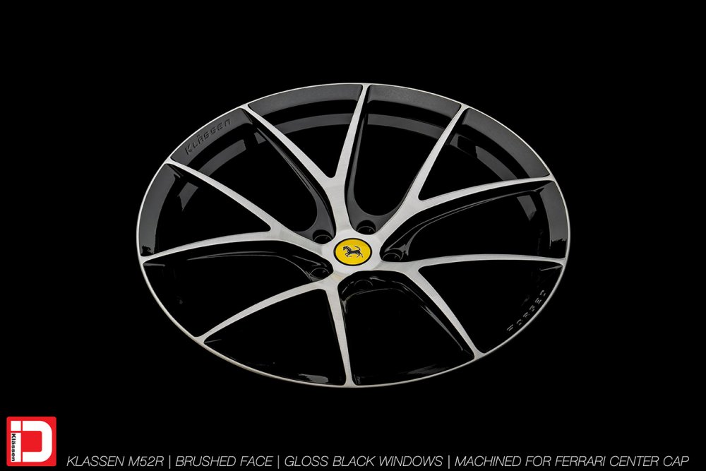 KlasseniD Wheels M52R – Brushed with Gloss Black Windows 7