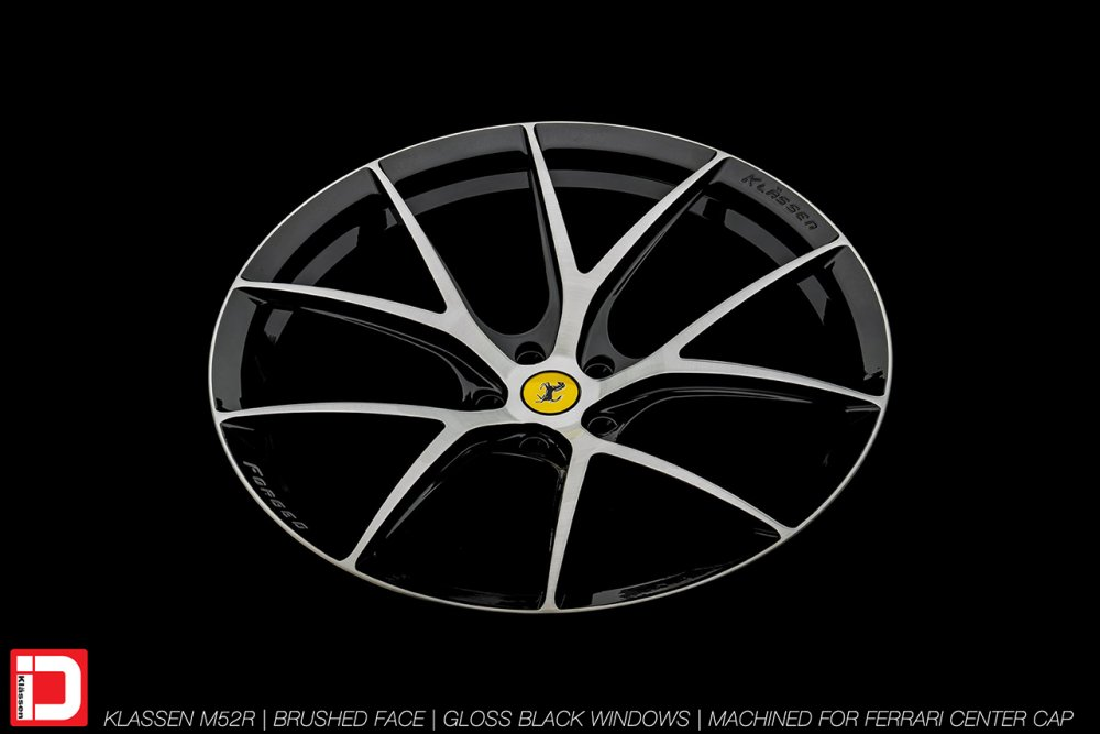 KlasseniD Wheels M52R – Brushed with Gloss Black Windows 9